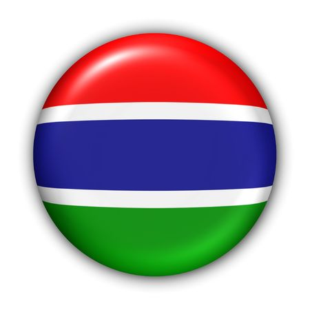 World Flag Button Series - Africa - Gambia (With Clipping Path)