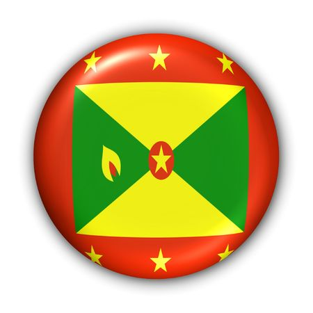 World Flag Button Series - Caribbean - Grenada (With Clipping Path) photo