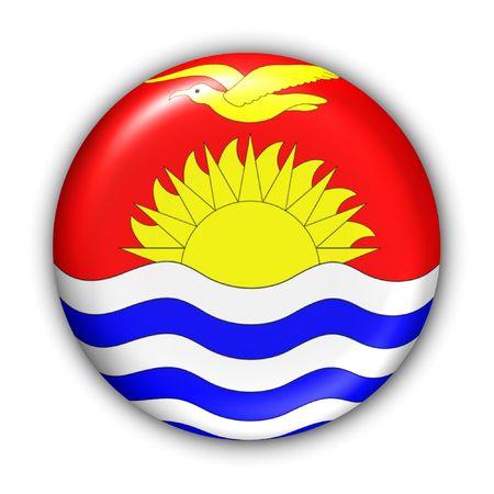 oceania: World Flag Button Series - Oceania - Kiribati (With Clipping Path) Stock Photo