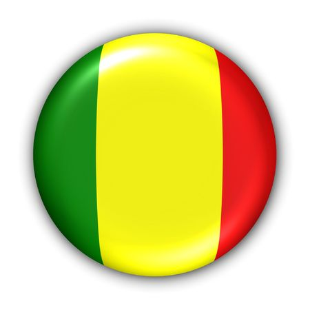 bamako: World Flag Button Series - Africa - Mali (With Clipping Path)