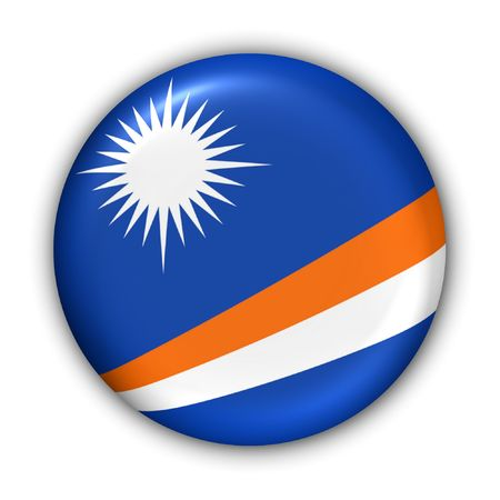 oceania: World Flag Button Series - Oceania - Marshall Islands (With Clipping Path)