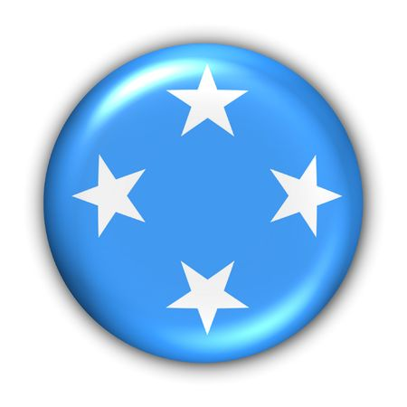 micronesia: World Flag Button Series - Oceania - Micronesia (With Clipping Path)