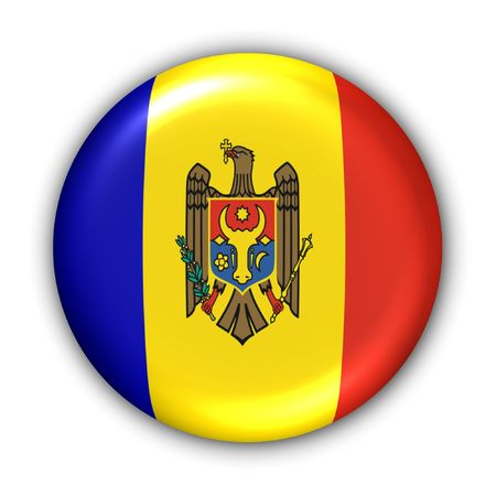 World Flag Button Series - Europe - Moldova (With Clipping Path) Stock Photo - 373902