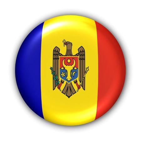 moldova: World Flag Button Series - Europe - Moldova (With Clipping Path)