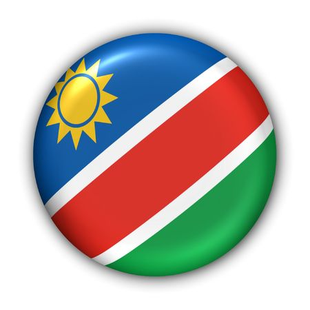 namibia: World Flag Button Series - Africa - Namibia (With Clipping Path) Stock Photo