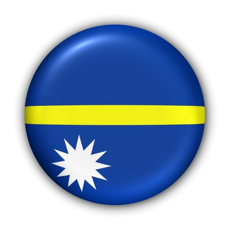 oceania: World Flag Button Series - Oceania - Nauru (With Clipping Path) Stock Photo