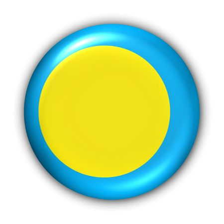 oceania: World Flag Button Series - Oceania - Palau (With Clipping Path)