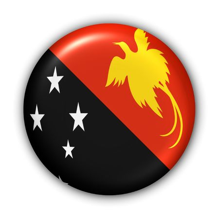 oceania: World Flag Button Series - Oceania - Papua New Guinea (With Clipping Path)