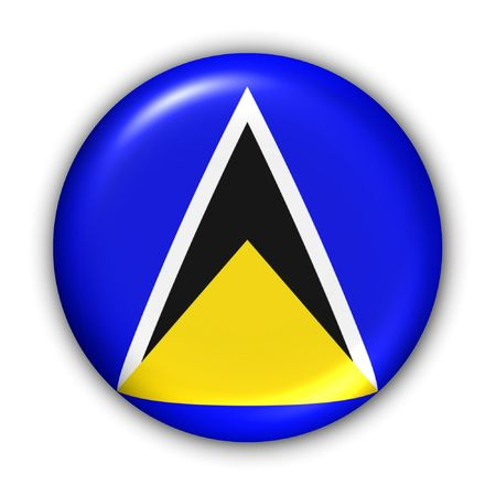 lucia: World Flag Button Series - Caribbean - Saint Lucia (With Clipping Path)