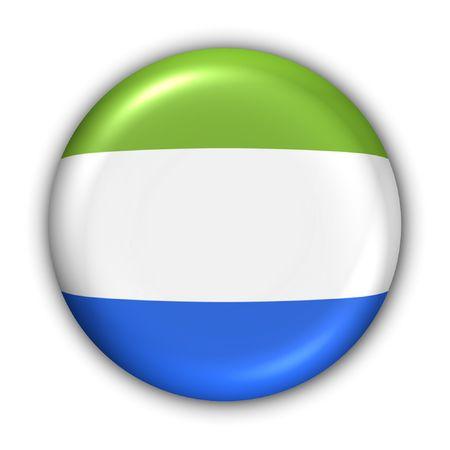 sierra: World Flag Button Series - Africa - Sierra Leone (With Clipping Path)