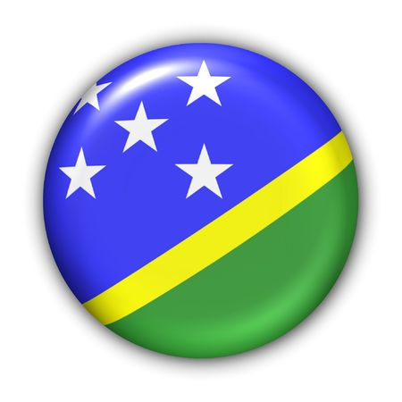 World Flag Button Series - Oceania - Solomon Islands (With Clipping Path)