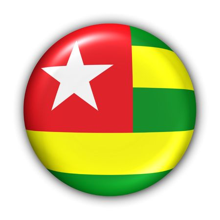 World Flag Button Series - Africa - Togo (With Clipping Path) photo