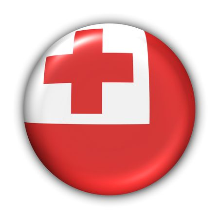 oceania: World Flag Button Series - Oceania - Tonga (With Clipping Path)