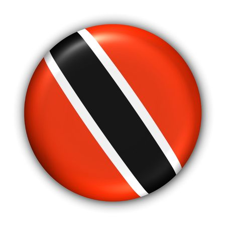 World Flag Button Series - Central America/Caribbean - Trinidad and Tobago (With Clipping Path)