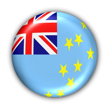 oceania: World Flag Button Series - Oceania - Tuvalu (With Clipping Path)
