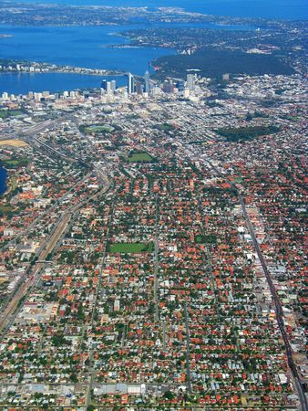 Anteny widok miasta Perth, Australia