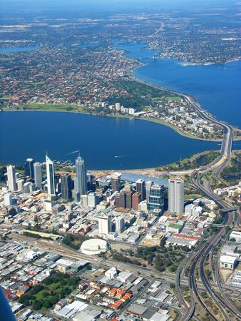 perth: An aerial view of Perth City 2