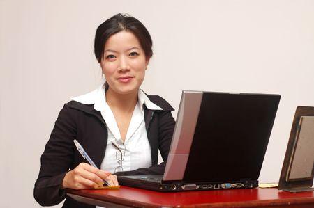 A friendly secretary