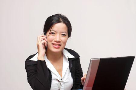 A friendly woman worker