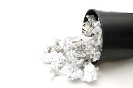 filled: Bin Filled with Trash