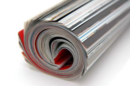 Closeup of magazine roll together (Shallow DOF)