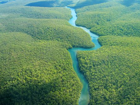 Aerial Photography - The River Stock Photo