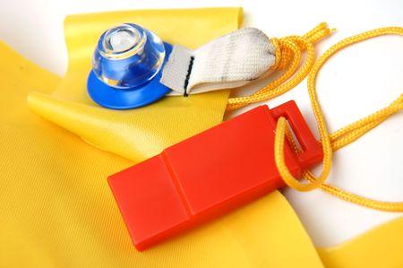 emergency vest: Close up of life jacket Stock Photo