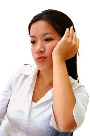 A Bored Woman Employee Stock Photo - 454982