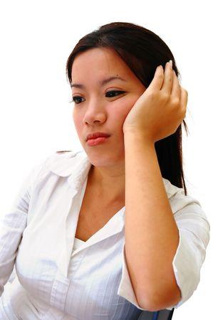 A Bored Woman Employee