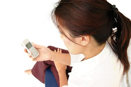 Woman employee waiting for a call
