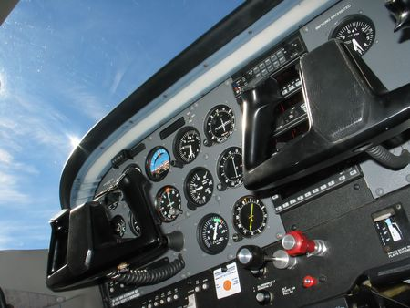 Internal of Cockpit - Aircraft Registration and Visible logo removed Banque d'images