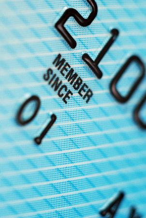 Closeup of credit card detail. Low Depth of Field Stock Photo