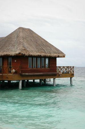 stilts: A resort house over water on stilts