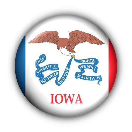 USA States Flag Button Series - Iowa photo