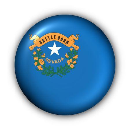 carson city: USA States Flag Button Series - Nevada Stock Photo