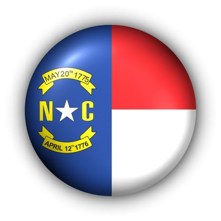 USA States Flag Button Series - North Carolina photo