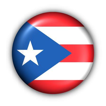 USA States Flag Button Series - Puerto Rico