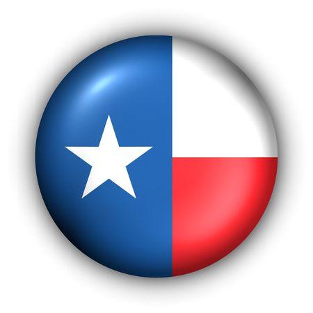 USA States Flag Button Series - Texas