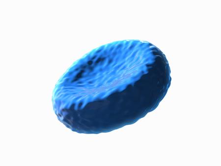 celula animal: azul de la c�lula, la c�lula humana, animal de la c�lula. Representaci�n 3D