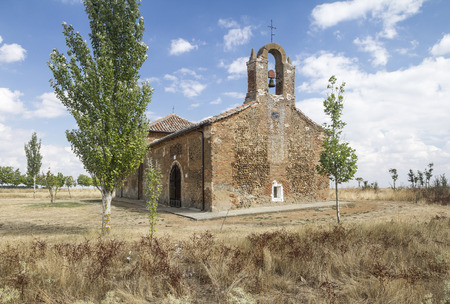 contryside: an isolated church in the countryside in Spain