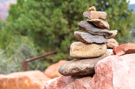 A stack of rocks someone decided to build