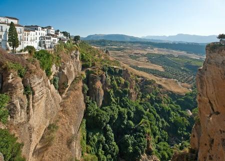 Village on the edge, Spain
