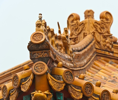 imperial: Imperial  roof decoration, Beijing, China