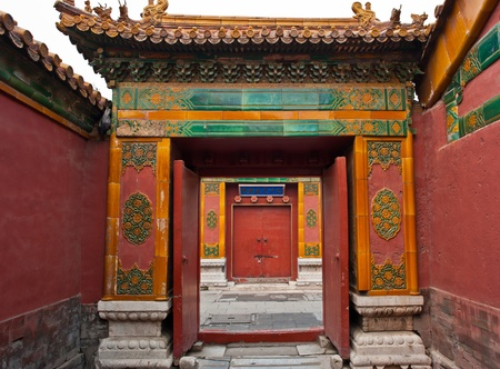 forbidden city: Gate in the Forbidden City, Beijing, China