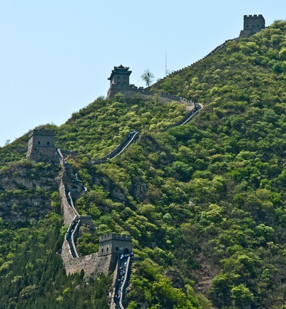 Great Wall in the mountains, China Stock Photo
