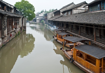 Boats in a river, China