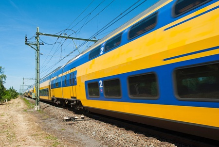 Passing train, Holland Stock Photo