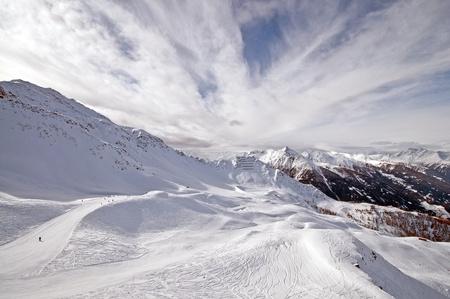 Ski piste in the mountains, Tirol,, Austria Stock Photo - 10913038