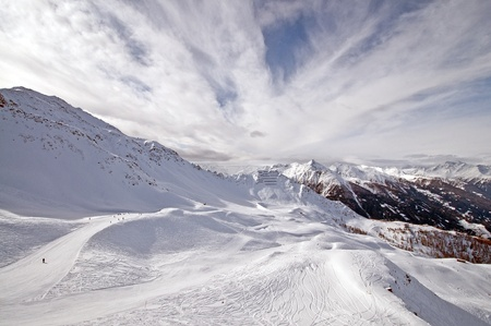 Ski piste in the mountains, Tirol,, Austria Stock Photo - 10913038