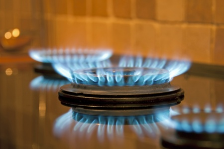 Fire in the kitchen, Holland Stock Photo